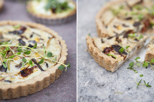 Chestnut Tart with Oyster Mushrooms